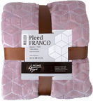 Home4you Franco Blanket 130x160cm Pink/Silver