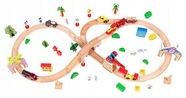 EcoToys Wooden Train Set 78pcs