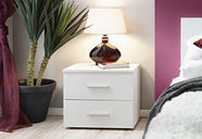 ASM Vicky Bedside Table White Matt