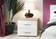 ASM Vicky Bedside Table Sonoma Oak/White Gloss