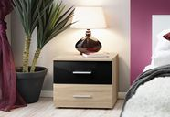ASM Vicky Bedside Table Sonoma Oak/Black Gloss