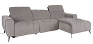 Home4you Lund RC Corner Sofa w/ Electric Recliner Grey