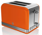 Swan 2 Slice Retro Toaster ST19010ON Orange