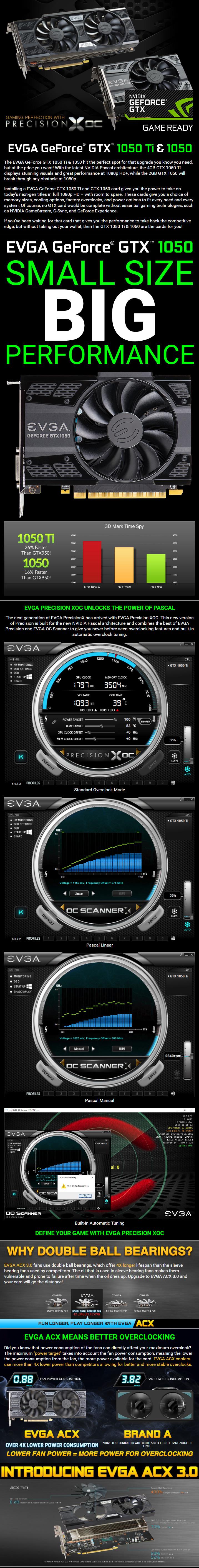 Graphics card EVGA GeForce GTX 1050 SSC GAMING ACX 02G-P4-6154-KR