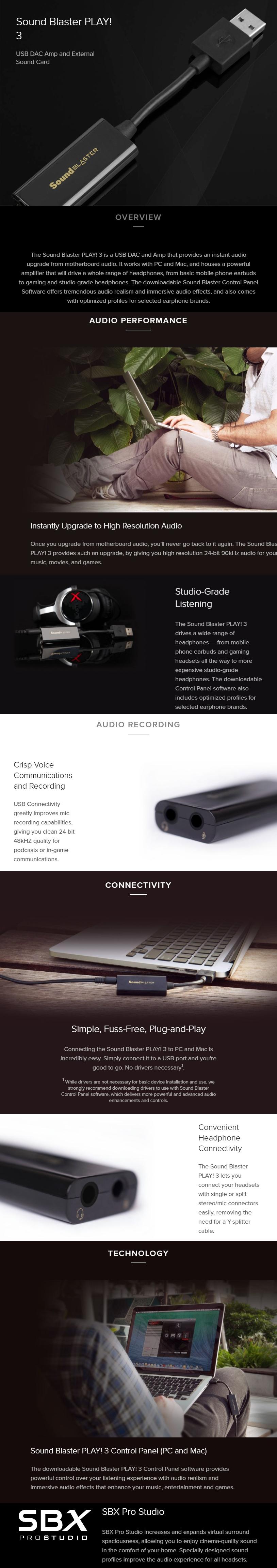 Creative Sound Blaster Play 3