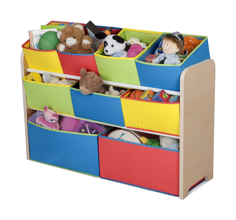 Delta Children Deluxe Multi Bin Toy Organizer Multi Color Dėzės