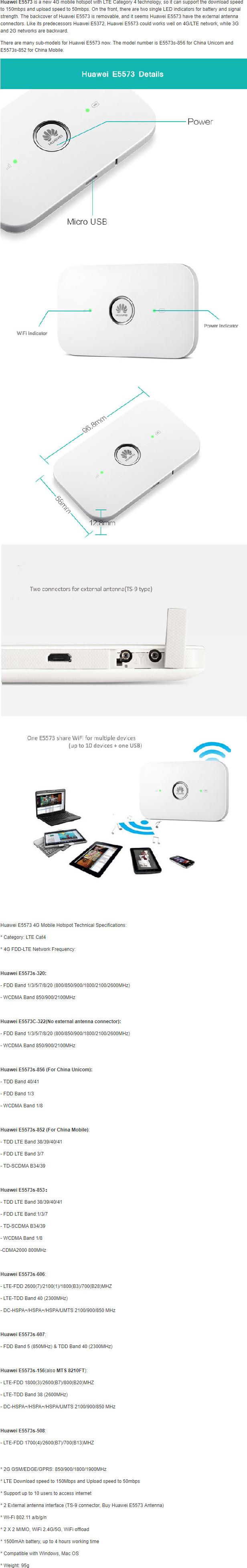 Huawei E5573 Portable 4G LTE Router