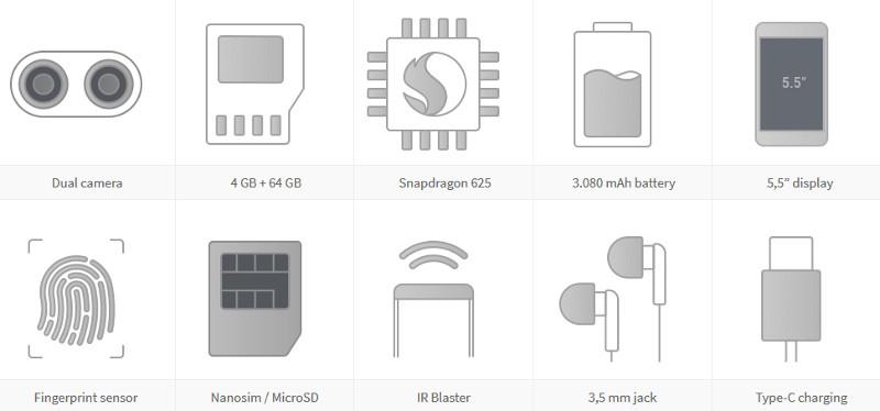 Xiaomi Mi A1 64GB Dual Black ENG/RU