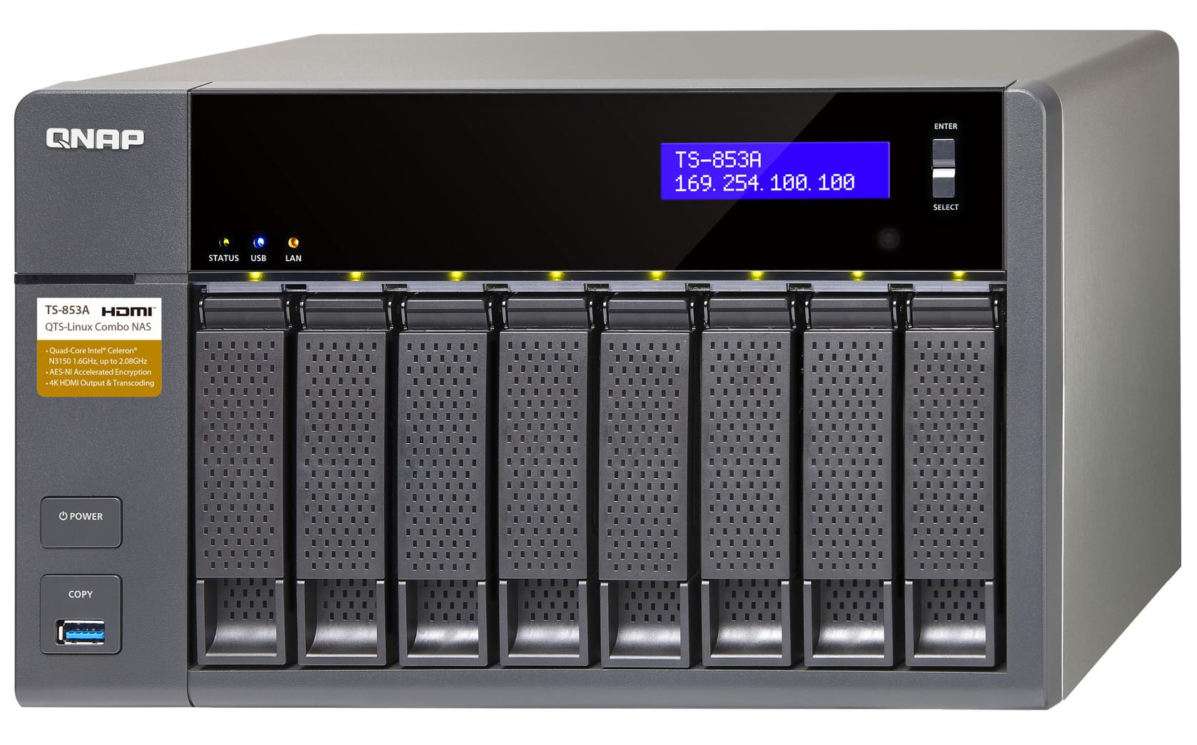 QNAP Systems TS-853A-8G 8-Bay NAS :: Tīkla disku masīvi (NAS