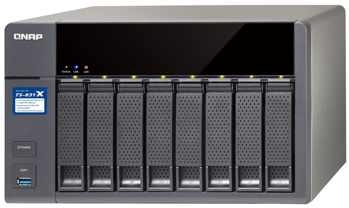 QNAP Systems TS-831X-4G 8-Bay NAS :: Tīkla disku masīvi (NAS