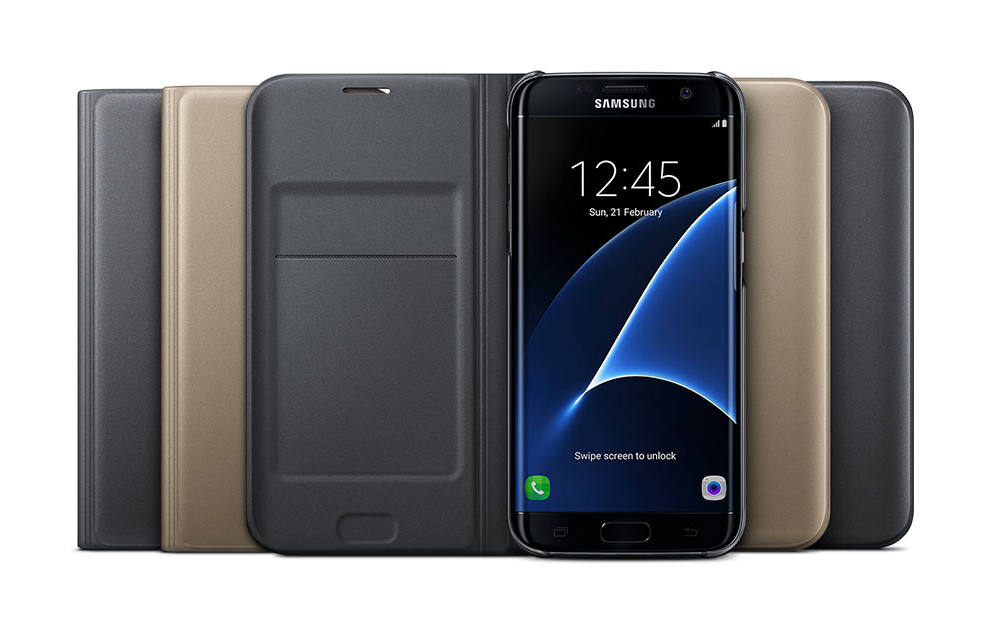13418dbacbc Your essential card sits safe inside the cover as the case wraps itself  firmly around the Galaxy S7 and S7 edge with a touch of class and a sense of  duty.