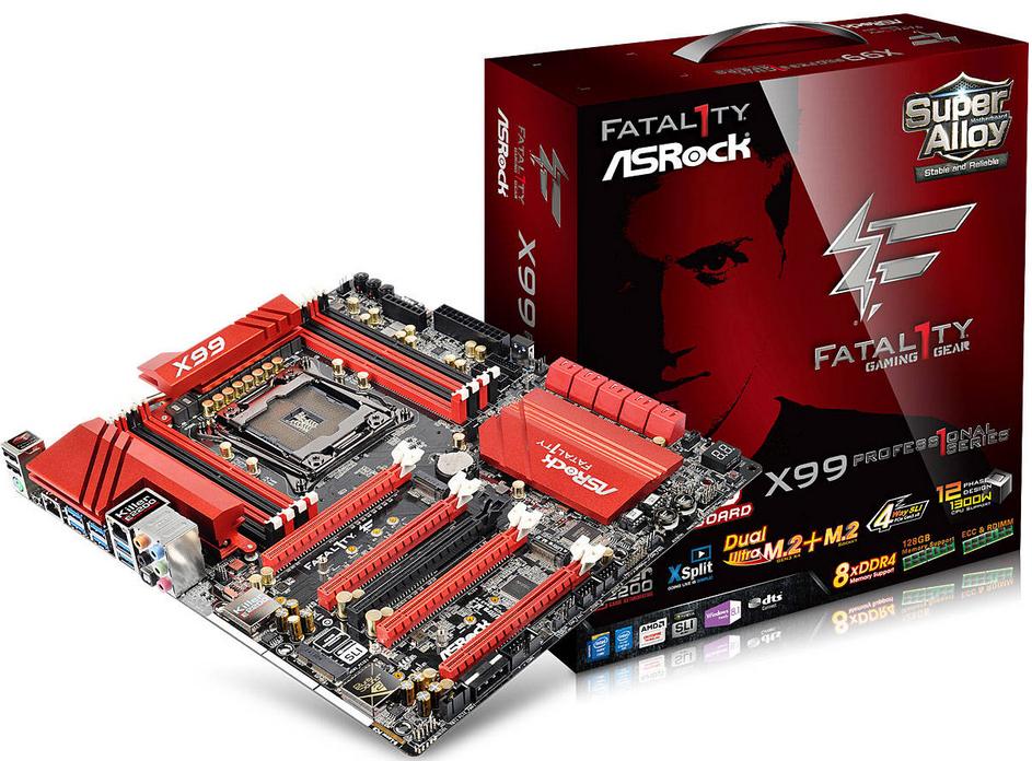 ASRock X99 PROFESSIONAL :: Pamatplates :: Komponentes :: Datoru